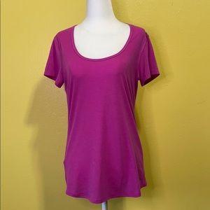 Lucy Final Rep Short Sleeve Top Pink size Medium